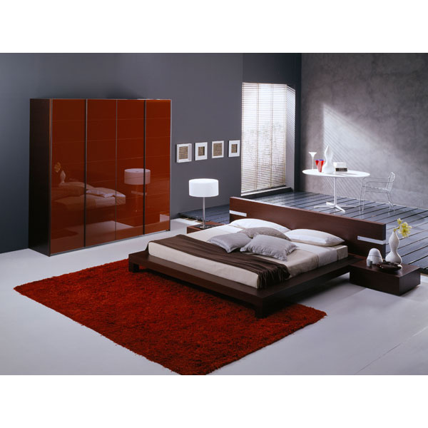 Win 5 Piece Wenge Bedroom Set with Light