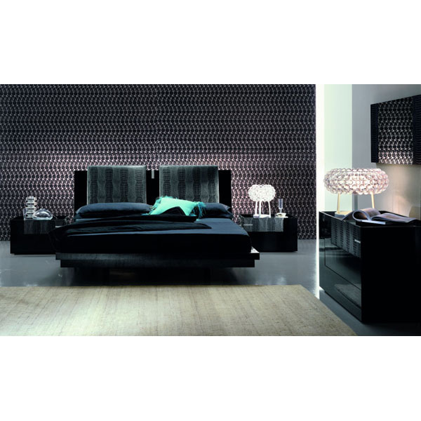 Diamond Modern Platform Bed with Nightstands - ROS-T2666MMXX30XX-3S