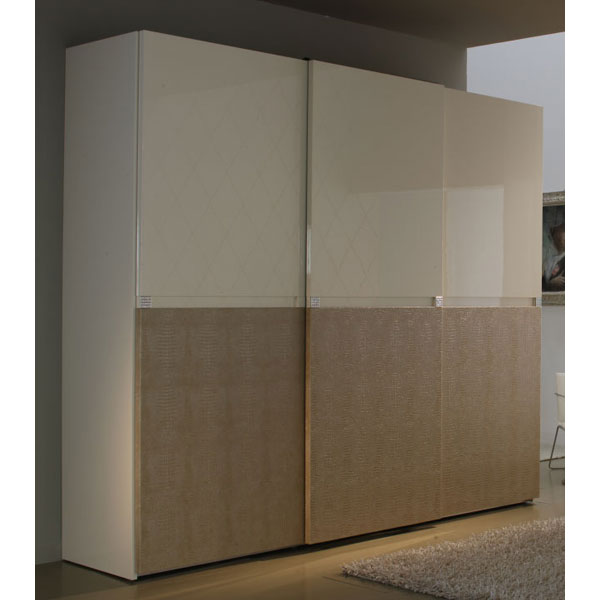 Sliding 3 Door Wardrobe Armoire
