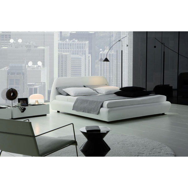 Downtown Modern White Platform Bed - ROS-T2866023XXA01