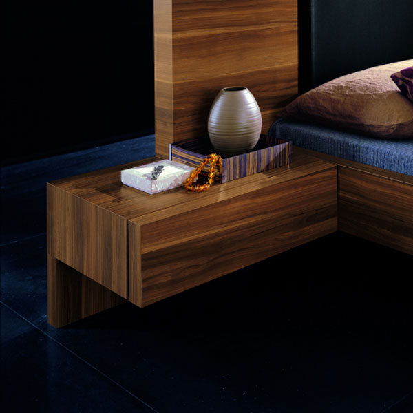 Gap Walnut Bed with Nightstands - ROS-T3046013XX001-3S