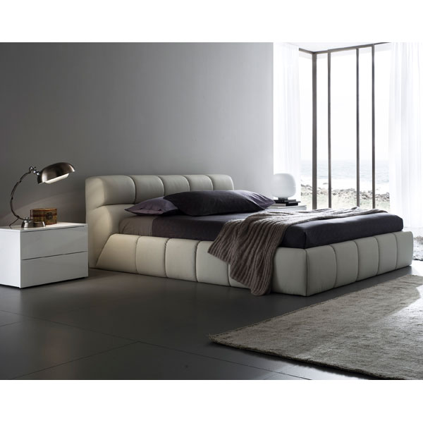 Cloud Beige Bed with Nightstands - ROS-T411602345A03-3S