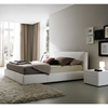 Touch Bed With Nightstands in White