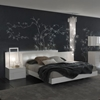 Nightfly White Bed With Nightstands