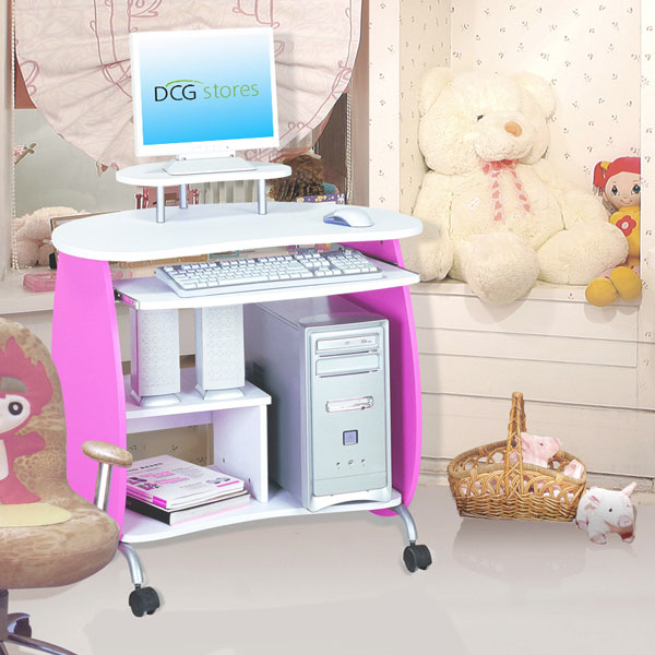 Girls Computer Desk - Pink and White