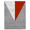 Aalborg - Grey, White & Red Rug