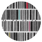 Bar Code - Black, White & Mixed 2 Rug