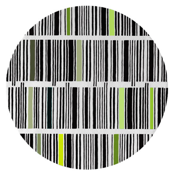 Bar Code - Black, White & Mixed 4 Rug