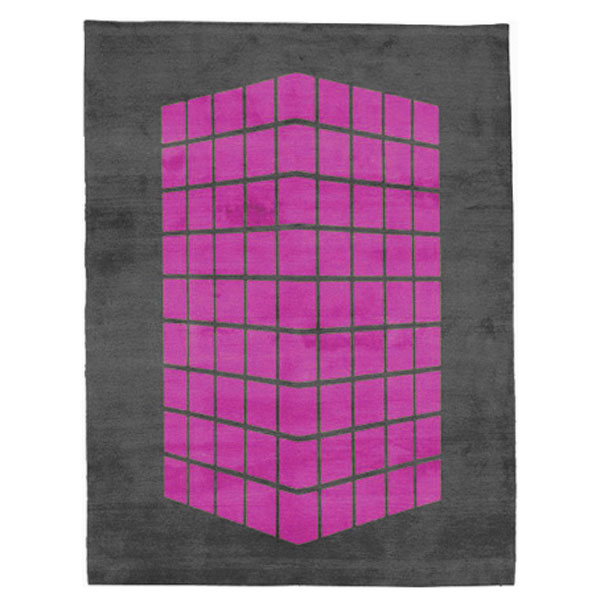 Cassady - Grey & Hot Pink Rug