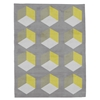 Cubizzmo No.1 - Grey & Yellow Rug