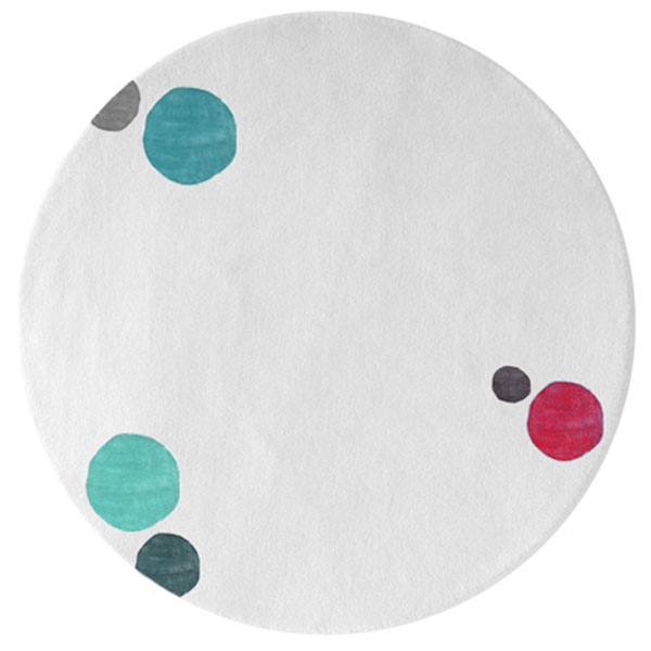 Havana Dots - White & Mixed colors 4 Rug