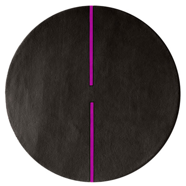 Lightsonic - Charcoal & Purple Rug
