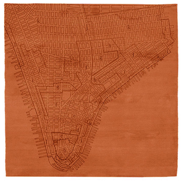 Lower Manhattan No.2 - Apricot Orange Rug