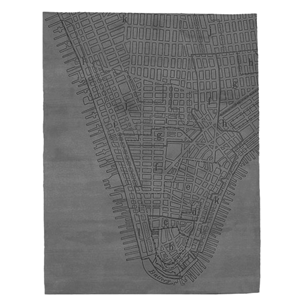 Lower Manhattan - Dark Grey Rug