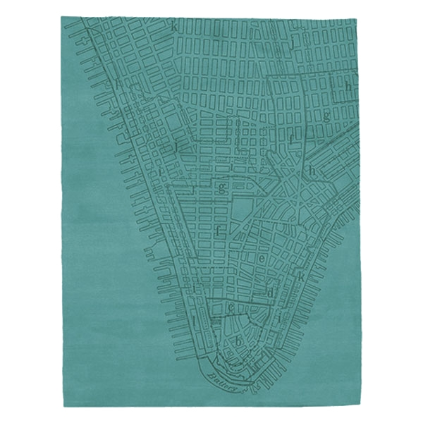 Lower Manhattan - Pagoda Blue Rug