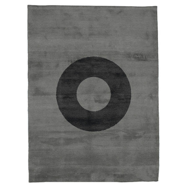 Oh - Silver & Almost Black Rug