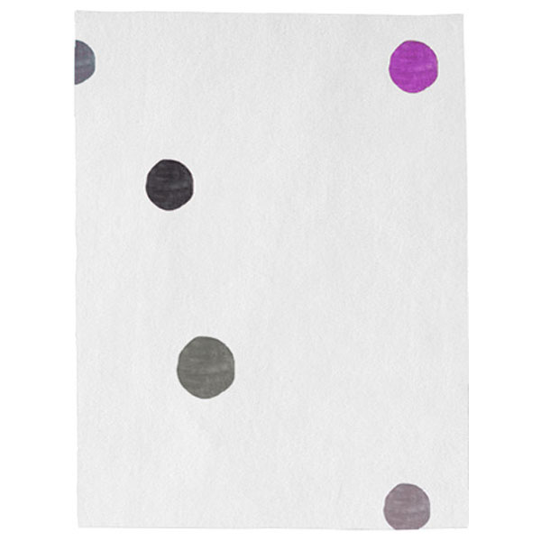 Santa Clara Dots - White, Grey & Purple Rug