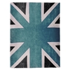 Union Jack - Blue, White & Dark Grey Rug
