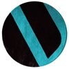 Velour - Black & Blue Rug