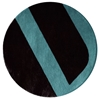 Velour - Black & Brooklyn Blue Rug