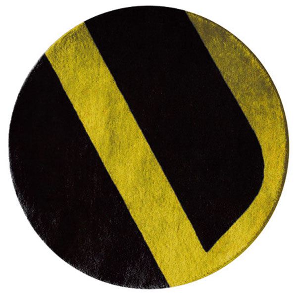 Velour - Black & Fulton Yellow Rug