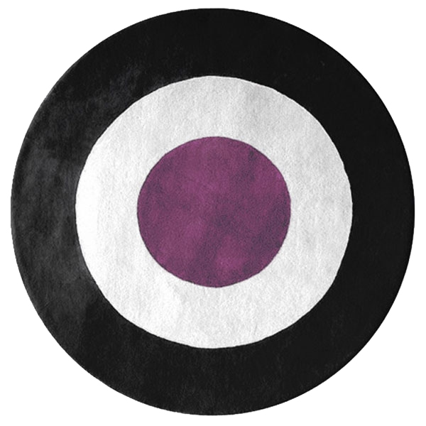 Ystad - Purple, White & Black Rug
