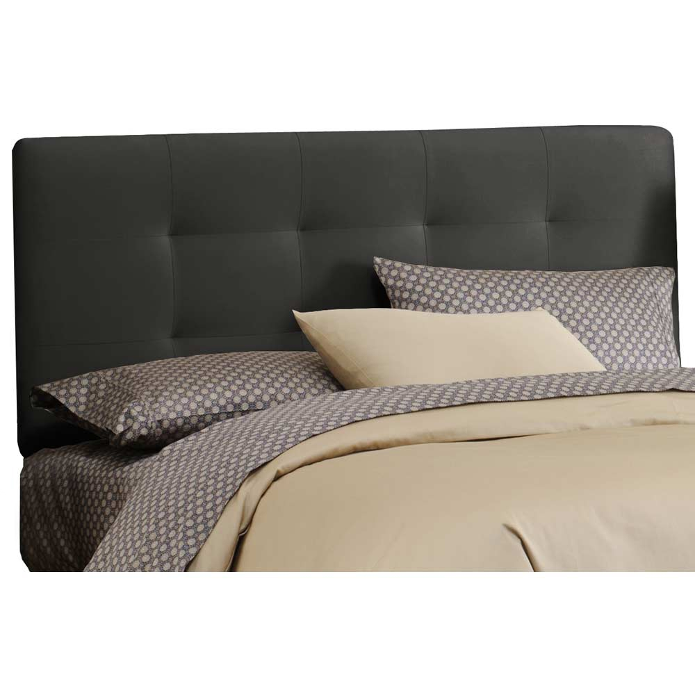 Lyra Headboard - Microsuede, Pull Tufts, Black