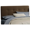 Lyra Headboard - Microsuede, Pull Tufts, Chocolate