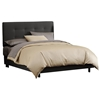Lyra Bed - Microsuede, Pull Tufted Headboard, Black
