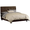 Lyra Bed - Microsuede, Pull Tufted Headboard, Chocolate