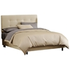 Lyra Bed - Microsuede, Pull Tufted Headboard, Oatmeal
