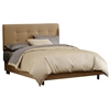 Lyra Bed - Microsuede, Pull Tufted Headboard, Saddle