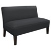 Cepheus Armless Settee - Twill Fabric, Black