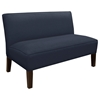 Cepheus Armless Settee - Twill Fabric, Navy