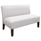 Cepheus Armless Settee - Twill Fabric, White