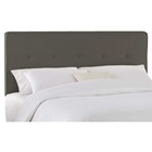 Cassiopeia Upholstered Headboard - Twill, Button Accents, Gray