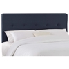 Cassiopeia Upholstered Headboard - Twill, Button Accents, Navy