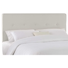 Cassiopeia Upholstered Headboard - Twill, Button Accents, White