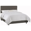 Cassiopeia Upholstered Bed - Twill, Button Accents, Gray