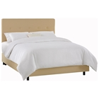 Cassiopeia Upholstered Bed - Twill, Button Accents, Khaki