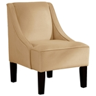 Crux Swoop Lounge Chair - Velvet, Buckwheat
