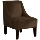 Crux Swoop Lounge Chair - Velvet, Chocolate