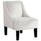 Crux Swoop Lounge Chair - Velvet, White