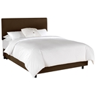 Caelum Bed - Linen Slipcover Headboard, Chocolate