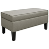 Perseus Upholstered Storage Bench - Decorative Piping, Gray