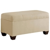 Vela Storage Bench - Microsuede, Seams, Oatmeal