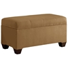 Vela Storage Bench - Microsuede, Seams, Saddle