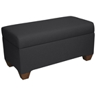 Sagittarius Upholstered Storage Bench - Twill, Black
