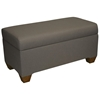 Sagittarius Upholstered Storage Bench - Twill, Gray