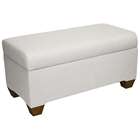 Sagittarius Upholstered Storage Bench - Twill, White